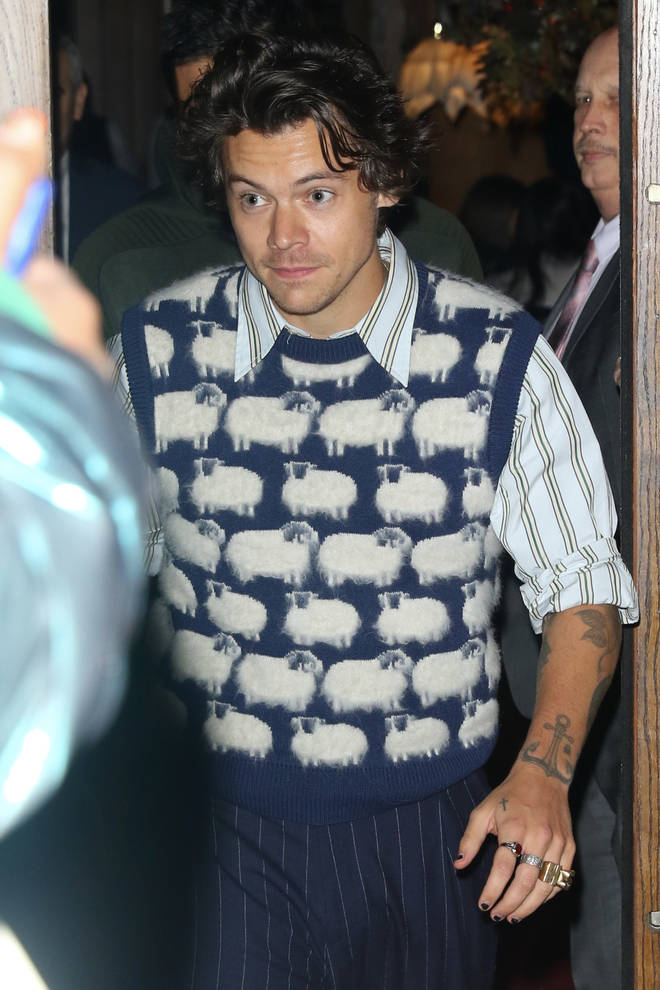 Harry Styles spotted rocking a sheep sweater vest in New York