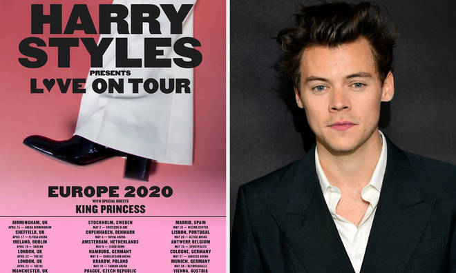 Harry Styles's announced UK dates on his 2020 tour