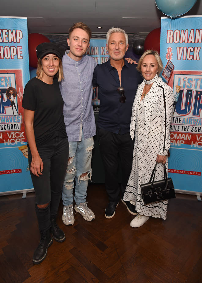 Roman Kemp with his family at the launch of his book with Vick Hope
