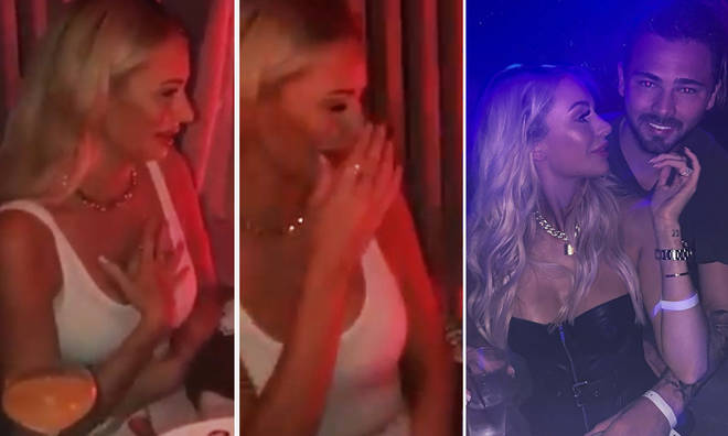 Olivia Attwood shares emotional video of her engagement