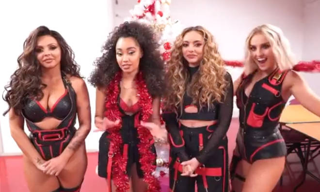 Jesy Nelson wasn't her typical spritely self in Little Mix's Christmas announcement clip