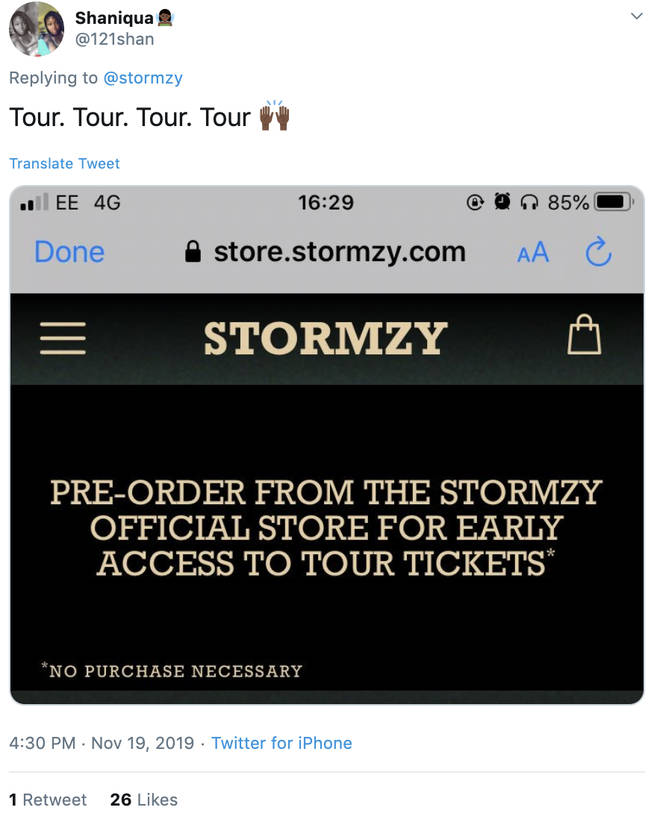 Stormzy might be touring his upcoming album