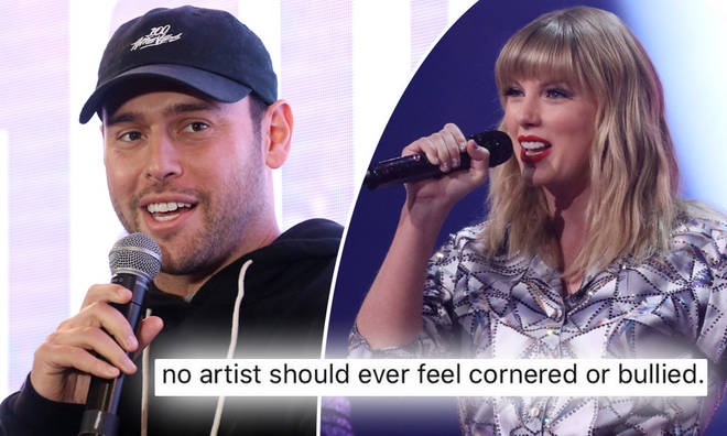 Scooter Braun has responded to Taylor Swift