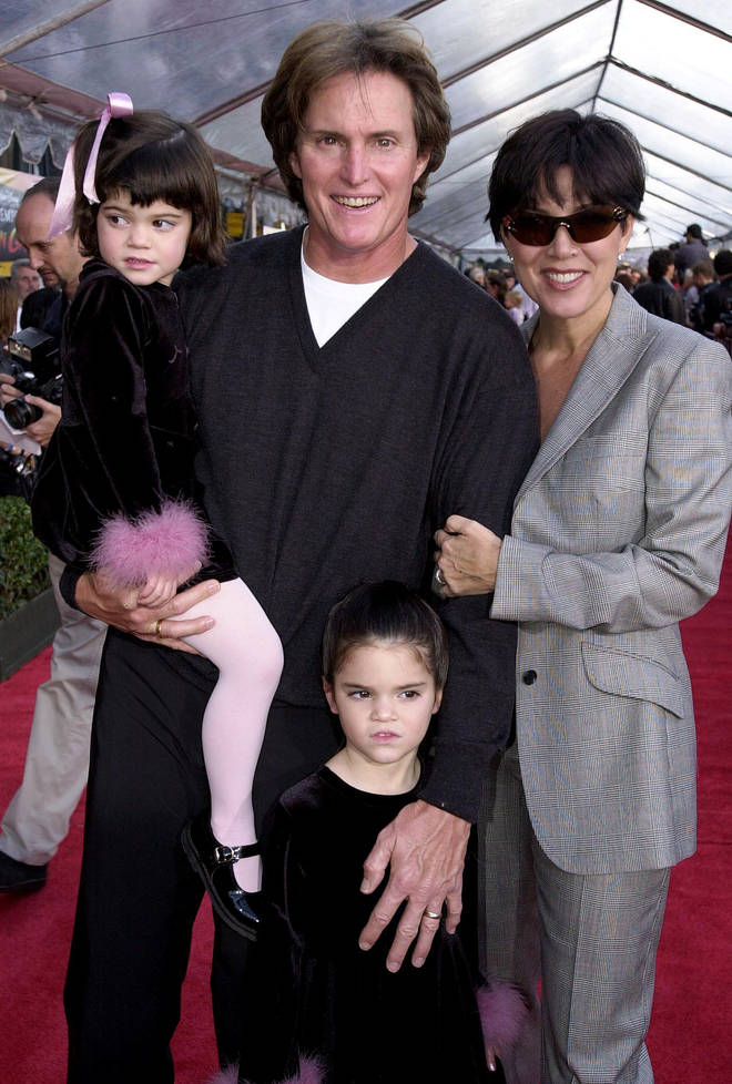 Caitlyn Jenner with ex-wife Kris Jenner and children Kylie and Kendall