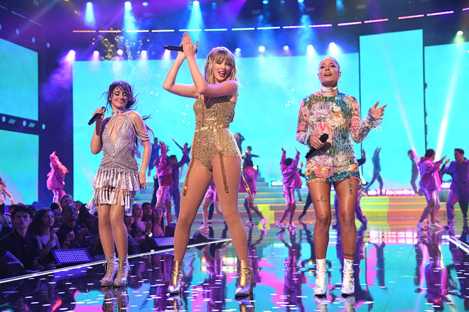 Halsey and Camila Cabello joined Taylor Swift on stage at the AMAs