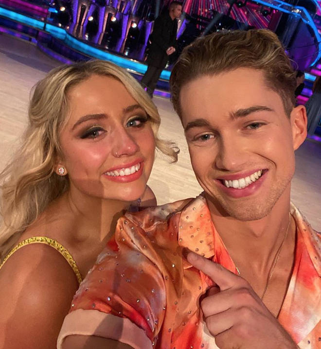 Saffron Barker thanked AJ Pritchard for her time on Strictly