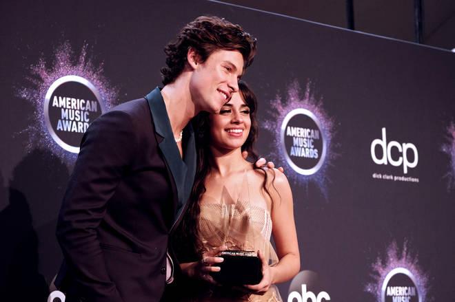 Shawn Mendes and Camila Cabello at the 2019 AMAs