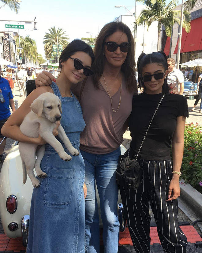 Caitlyn Jenner's youngest children, Kylie and Kendall, reached out to show their support