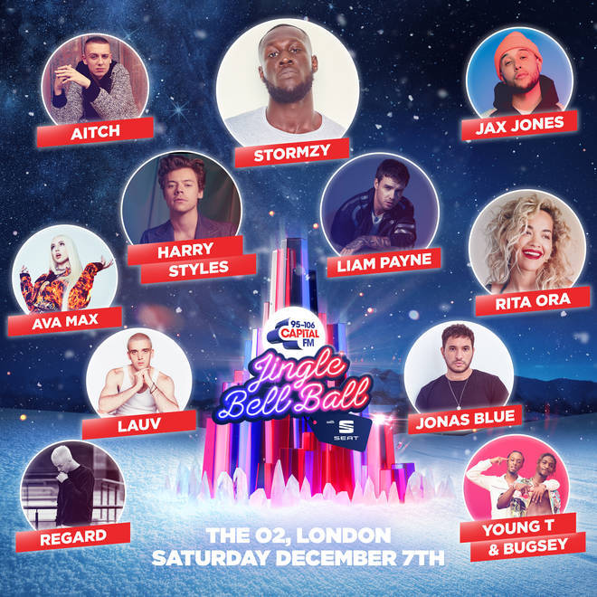 Saturday's line-up at Capital's Jingle Bell Ball