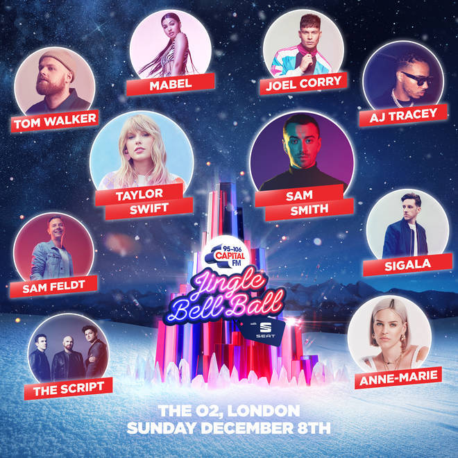 Sunday's line-up for Capital's Jingle Bell Ball