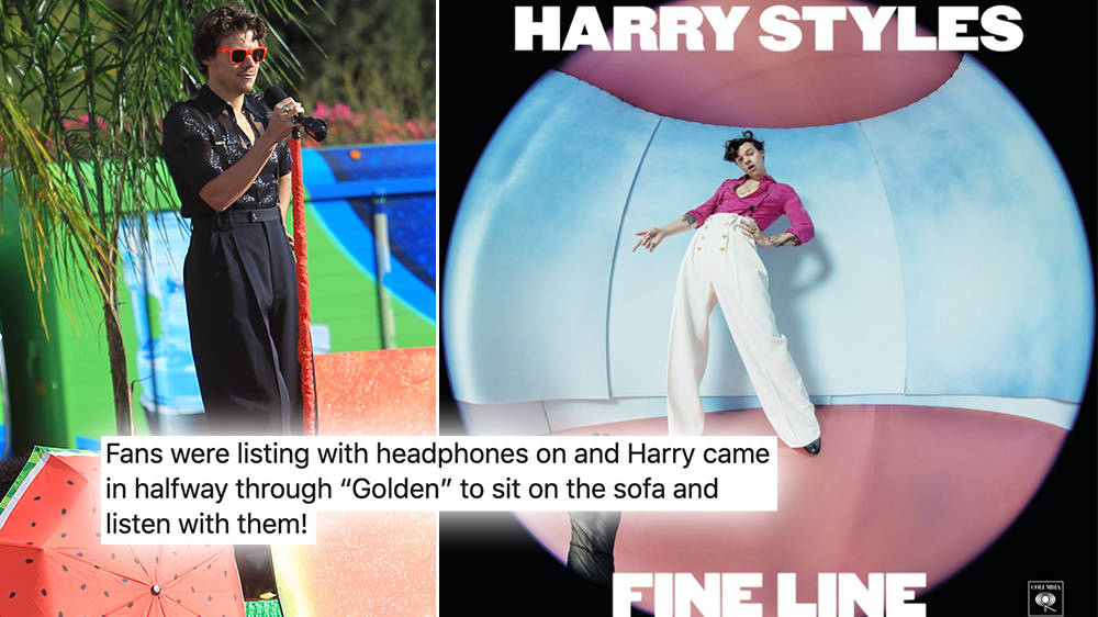 Inside Harry Styles Fine Line Listening Parties As He Continues To Surprise Fans Capital